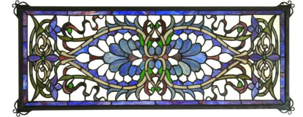 "Antoinette Transom | Tiffany Art Glass Panel | 29"" X 11"""