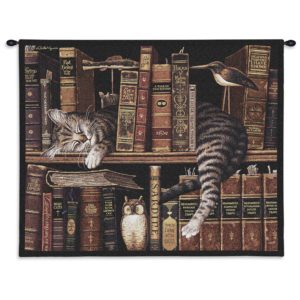 Charles Wysocki Cat Frederick The Literate | 34 x 26 | Tapestry