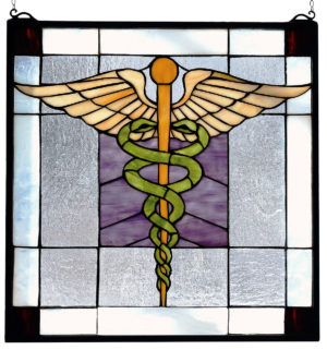 The Doctor Is In ( Doctor's Office ) | Stained Glass Window | 18 X 18