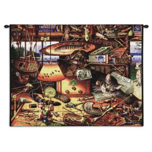 Charles Wysocki Cat Max In Adirondacks | 34 x 26 | Wall Tapestry