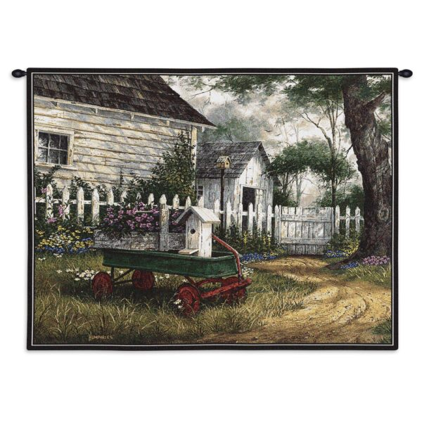 """Antique Wagon   26"""" x 34""""   Tapestry"""