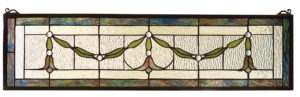 "Garland Swag | Stained Glass Transom Window | 31.5"" W X 8"" H"