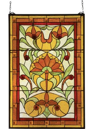 "Piccadilly | Tiffany Art Glass Panel | 20"" X 30"""