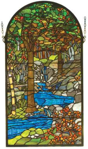 "Tiffany Waterbrooks | Stained Glass Window | 16"" W X 30"" H"