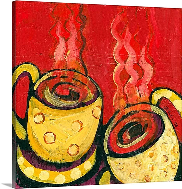 A Steaming Romance by Jennifer Lommers Art Print on Canvas
