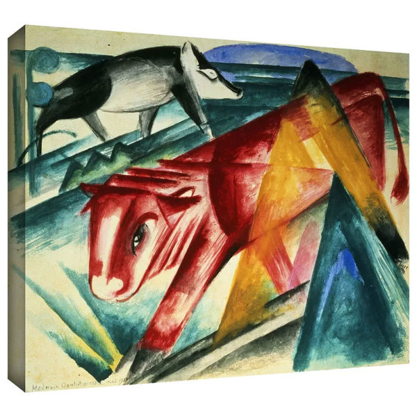 Animals by Franz Marc Art Print on Canvas