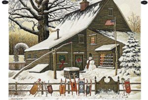 Cocoa Break at the Copperfields by Charles Wysocki | Wall Tapestry | 34 x 26