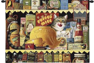 Ethel the Gourmet by Charles Wysocki | Wall Tapestry | 34 x 26