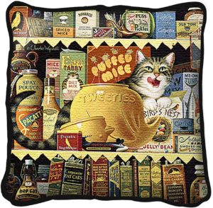 Ethel the Gourmet by Charles Wysocki | Throw Pillow | 17 x 17