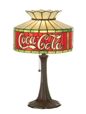 Coca-Cola Tiffany Stained Glass Table Lamp