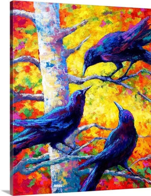 Crows II by Marion Rose Art Print on Canvas