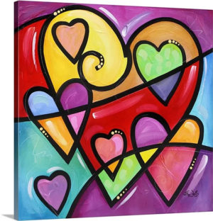 A Lot of Heart I by Eric Waugh Canvas Art Print