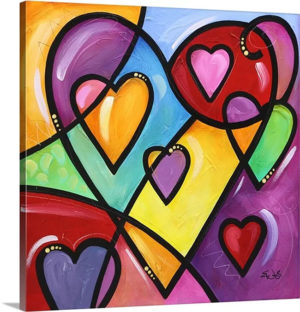 A Lot of Heart II by Eric Waugh Art Print on Canvas