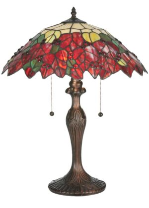 "22""H Poinsettia Table Lamp"