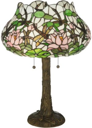 """22.5"""" H Dragonfly Flower Table Lamp"""