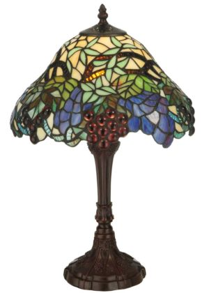 "18.5"" H Spiral Grape Accent Lamp"