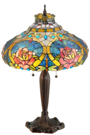 """26"""" H Dragonfly Rose Table Lamp"""