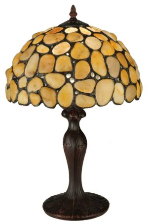 "19.5"" H Jasper Yellow Table Lamp"