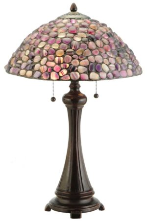 "Purple Agate Stone Table Lamp | 25"" H"
