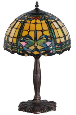 """19"""" H Tiffany Dragonfly Accent Lamp"""