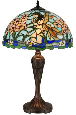 """Fairy Pond Stained Glass Table Lamp 
