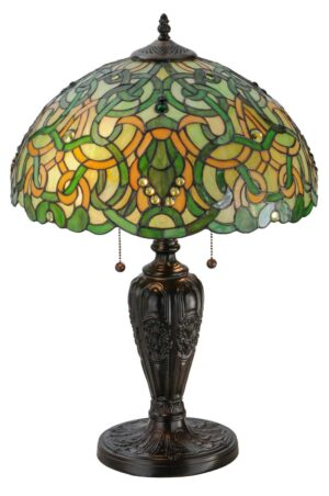 "25.5"" H Scroll & Jewel Table Lamp"