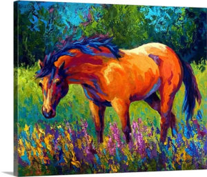 Dunn Mare by Marion Rose Art Print on Canvas