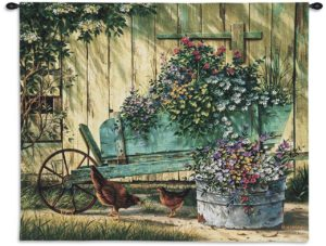 Spring Social Country Wall Hanging   26 x 32