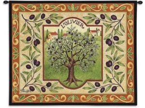 L'Olivier French Olive Tree Tapestry | 26 x 34