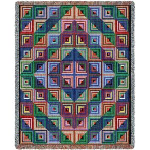 Log Cabin Quilt | Woven Throw
