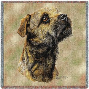 Border Terrier Breed Portrait | Throw Blanket | 54 x 54