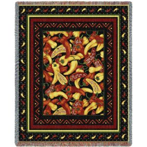 Chili Peppers | Woven Blanket | 54 x 70
