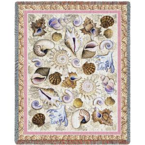 "Seashells | Tapestry Blanket | 70"" x 54"""