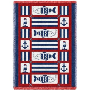 Nautical Fish | Afghan Throw Blanket