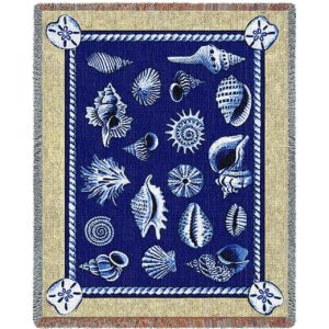 Shell Collection Nautical | Throw Blanket
