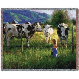 Anniken And The Cows Country | Throw Blanket