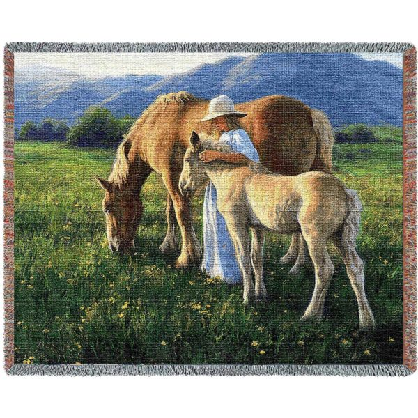 Beautiful Blondes (Horses) | Tapestry Blanket | 70 x 54