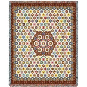 Honeycomb Quilt | Tapestry Blanket | 54 x 70