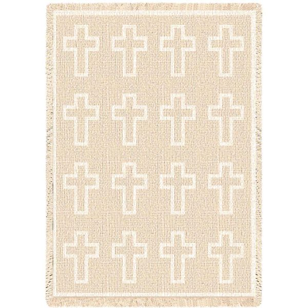 Cross Natural | Afghan Blanket | 48 x 69