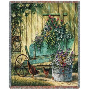 Spring Social Tapestry Country | Tapestry Blanket | 70 x 54