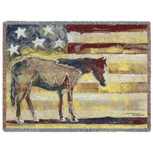 """Horse Red White and Blue (American Flag) 
