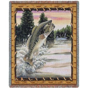 Bass Attack | Woven Blanket | 70 x 54