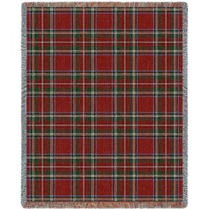 "Stewart Royal Plaid | Tapestry Blanket | 53"" x 70"""