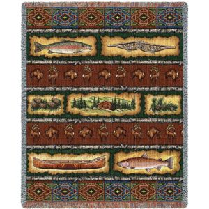 "Stripe Lodge | Tapestry Blanket | 53"" x 70"""