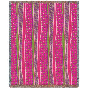 Wavy Stripes Candy | Tapestry Blanket | 54 x 70