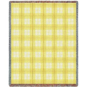 Lemon Plaid | Tapestry Blanket | 53 x 70
