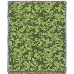 Camouflage Woods | Tapestry Blanket | 54 x 70
