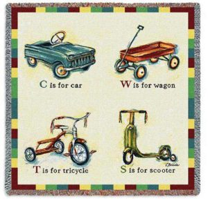 Car, Wagon, Tricycle & Scooter | Woven Throw