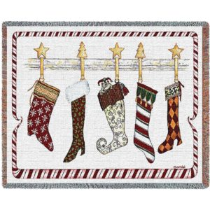 And the Stockings Were Hung | Woven Blanket