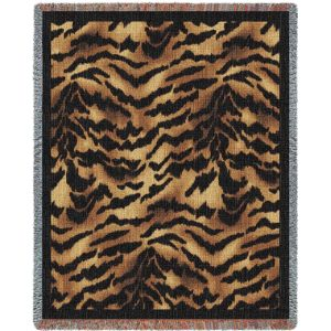 Tiger Skin | Woven Throw Blanket | 53 x 70